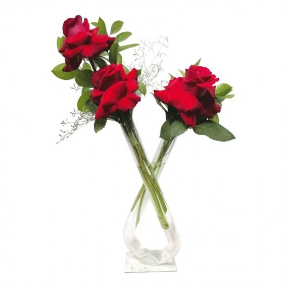 Arranjo duplo com 03 rosas colombianas