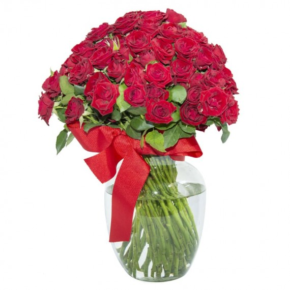Arrangement with Mini Red Roses