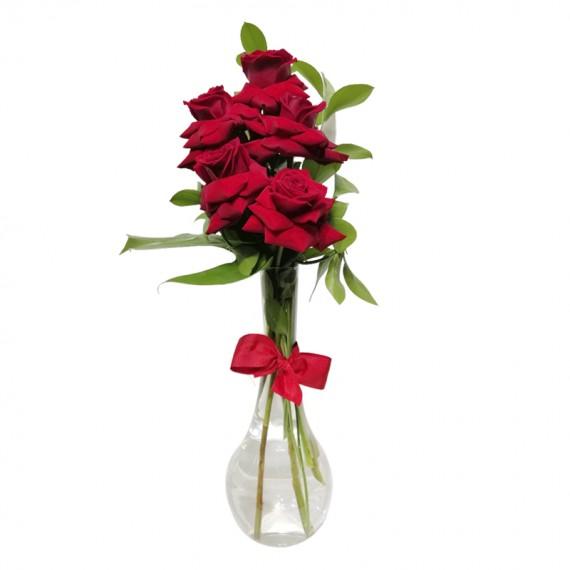 Arranjo com 5 Rosas Colombianas