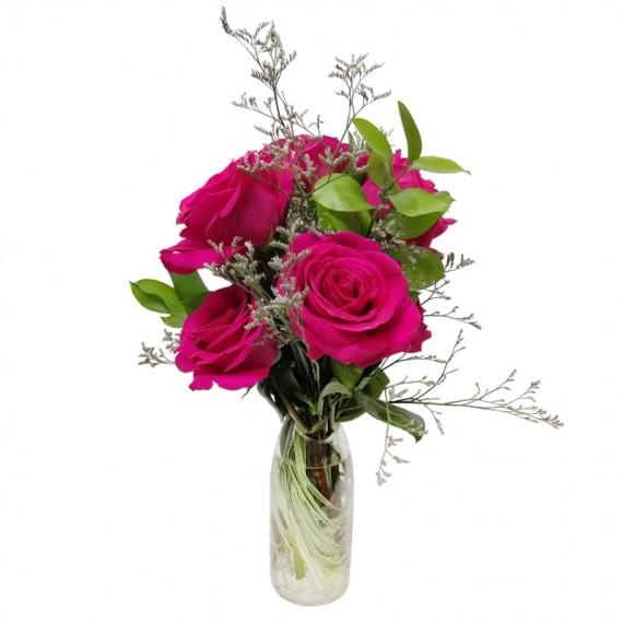 Arranjo de Rosas Colombianas Pink