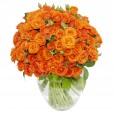 Arrangement with Mini Orange Roses