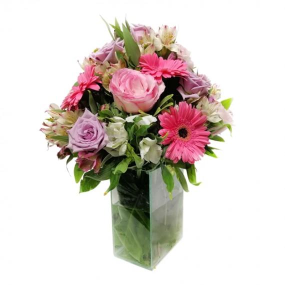 Arranjo Grande com Rosas Nacionais, Lírios, Gérberas e Astromélias