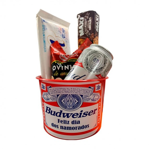 Budweiser Bucket with Snack, Cookie and Chocolate