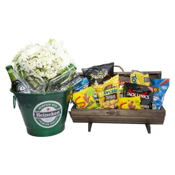 Heineken Aluminum Bucket with Snack Chest