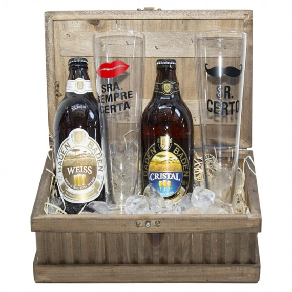 Toast Chest - with Beers and Glass