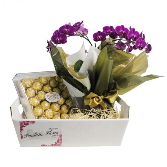 Sweet Orchid Basket II