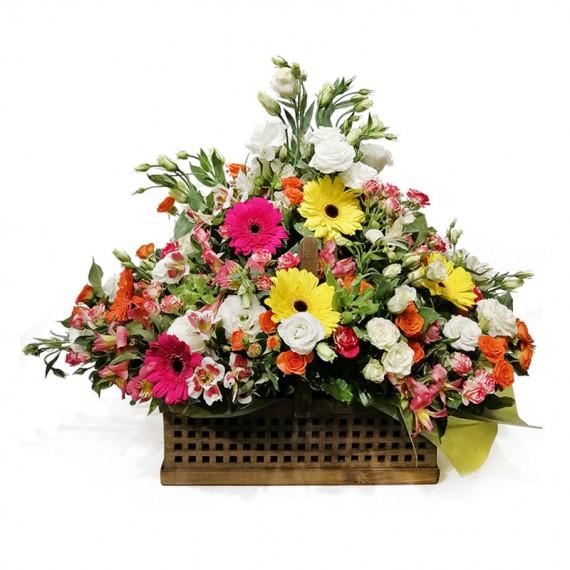 Cesta de Flores Mix 1
