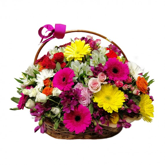 Cesta de Flores Mix 2