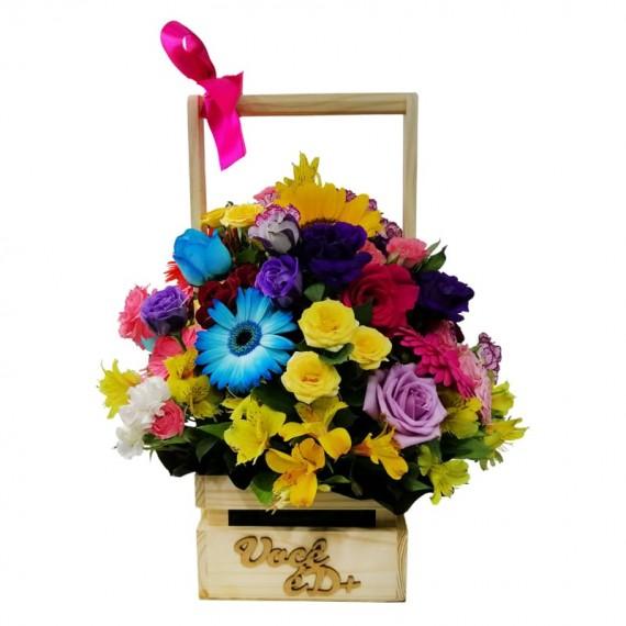 Cesta Mix de Flores Alegria