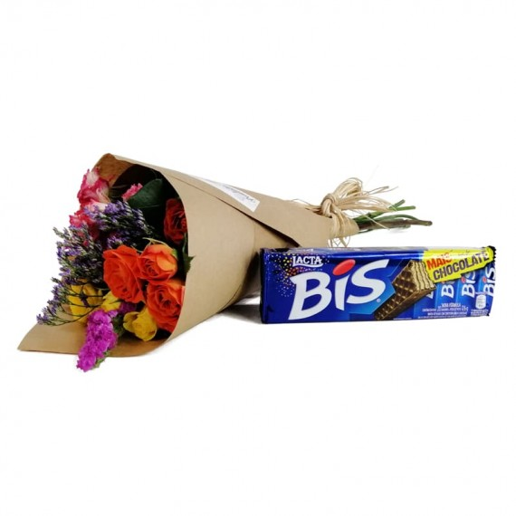 Mini Roses Bouquet Biss Chocolate Party