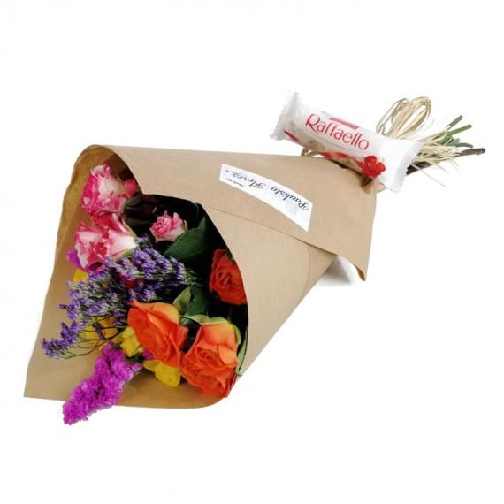 Mini Roses Bouquet Raffaello Chocolate Party