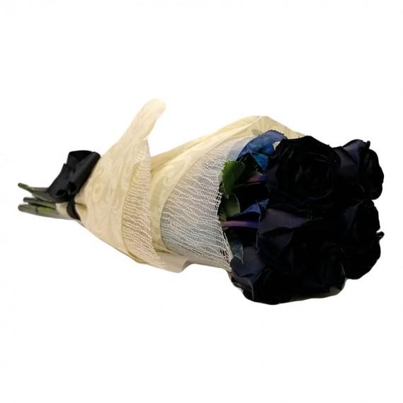 Buquê com 06 Rosas Negras