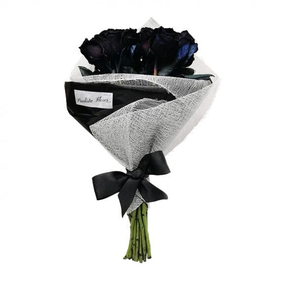 Buquê com 12 Rosas Negras