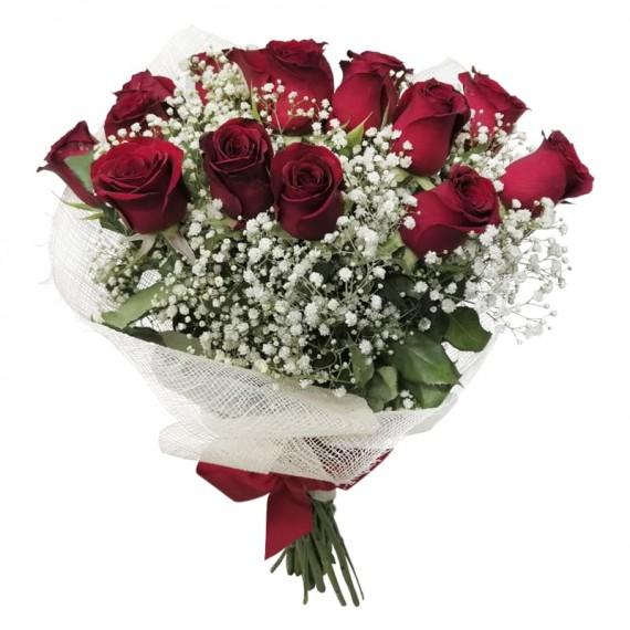 Buquê com 15 Rosas Nacionais