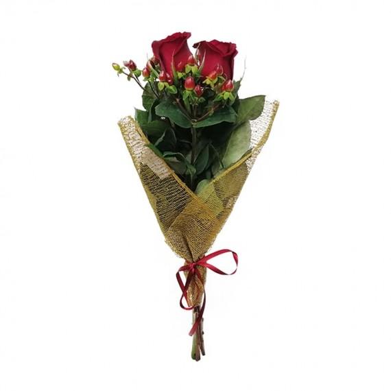 Buquê com 02 Rosas Nacionais