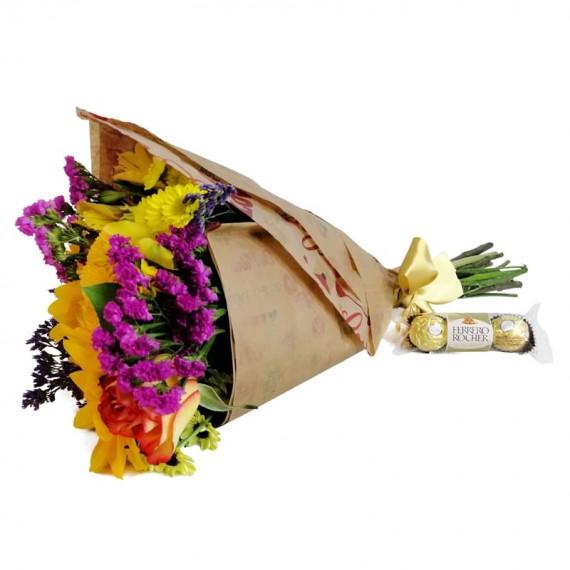 Hug Bouquet with chocolate Ferrero Rocher