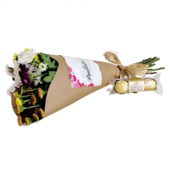 Candor Bouquet with chocolate Ferrero Rocher
