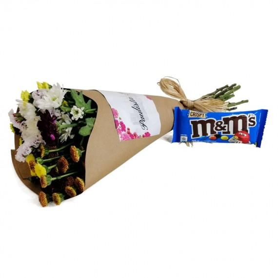 Candor Bouquet with chocolate M&M
