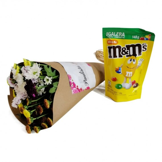 Candor Bouquet with chocolate M&M Peanut