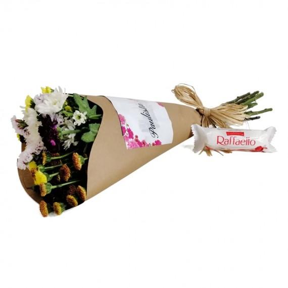 Candor Bouquet with chocolate Raffaello