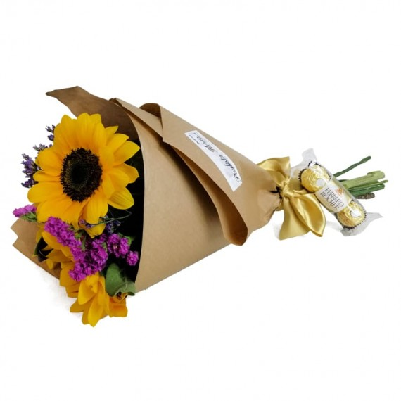 Happiness Bouquet with chocolate Ferrero Rocher