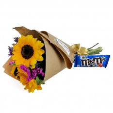 Happiness Bouquet with chocolate M&M