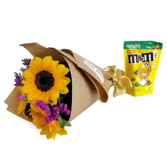 Happiness Bouquet with chocolate M&M Peanut
