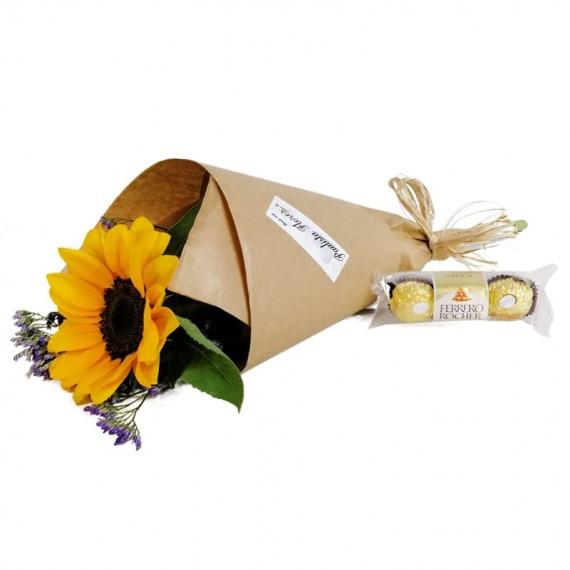 Sun Bouquet with chocolate Ferrero Rocher