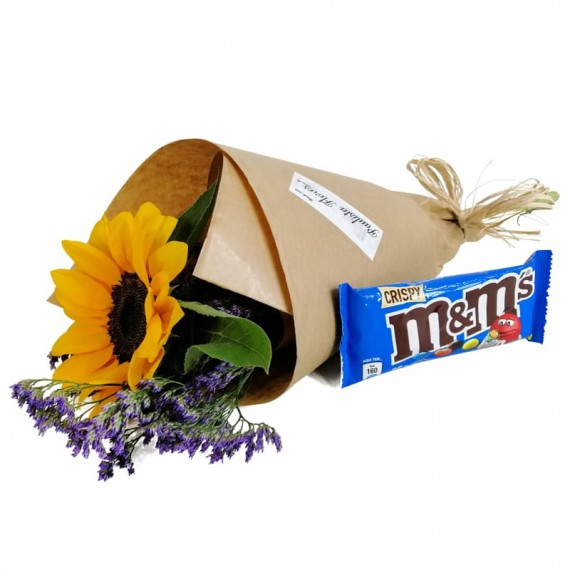 Sun Bouquet with chocolate M&M