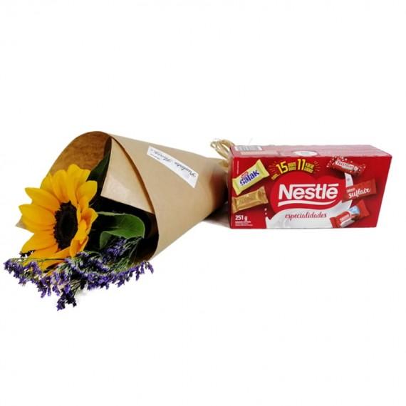 Sun Bouquet with chocolate Nestlé