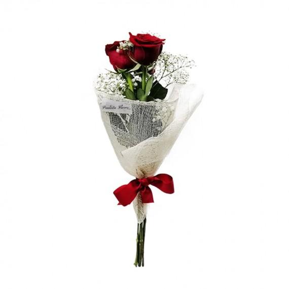 Buquê com 02 Rosas Colombianas