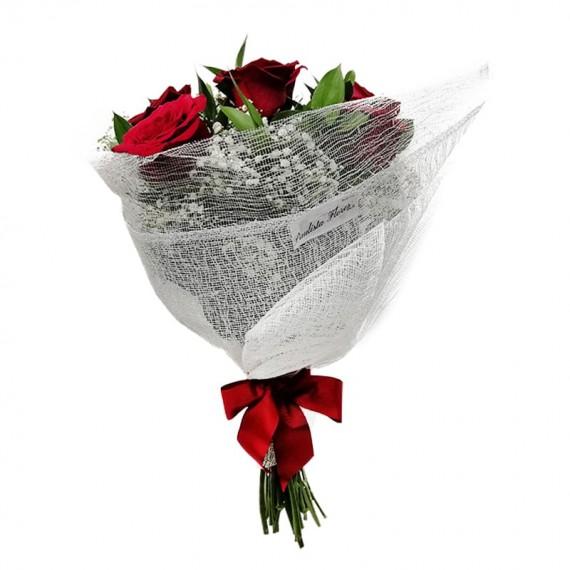 Buquê com 06 Rosas Colombianas