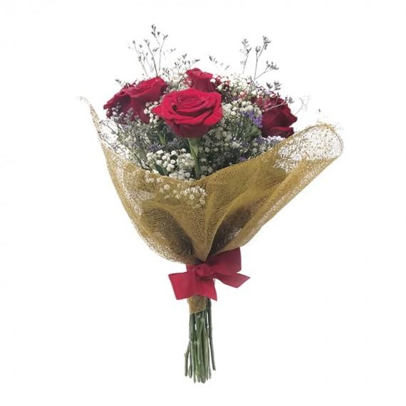 Buquê com 09 Rosas Colombianas