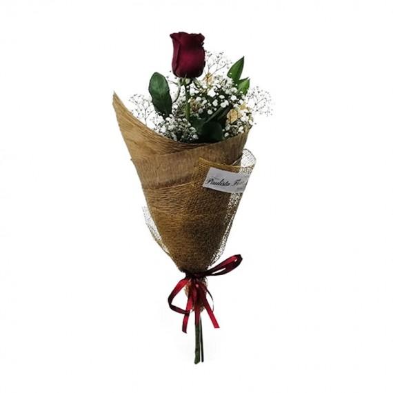 Buquê com 01 Rosa Nacional