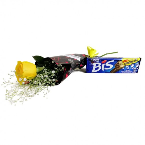 National Rose Bouquet Joy with chocolate Biss
