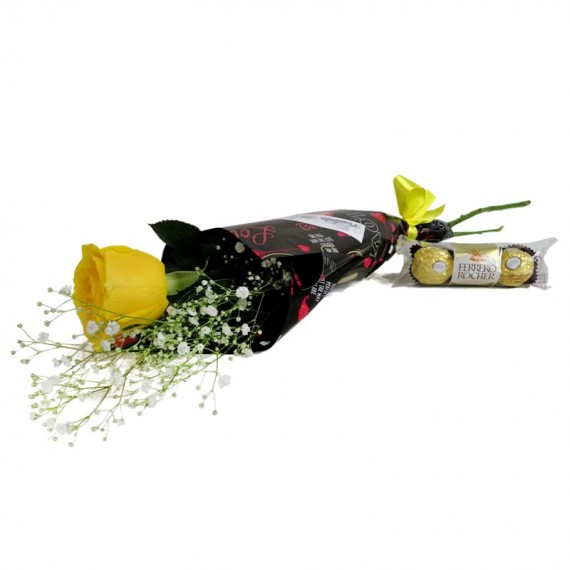 National Rose Bouquet Happiness with chocolate Ferrero Rocher