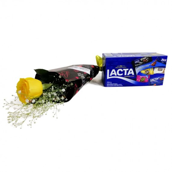 National Rose Bouquet Joy with chocolate Lacta