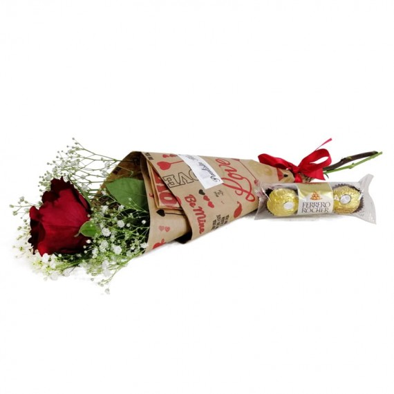 National Rose Bouquet Delicacy with chocolate Ferrero Rocher
