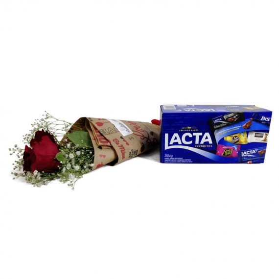 National Rose Bouquet Delicacy with chocolate Lacta