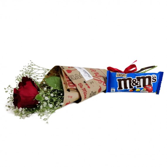 National Rose Bouquet Delicacy with chocolate M&M