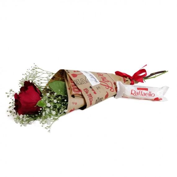 National Rose Bouquet Delicacy with chocolate Raffaello