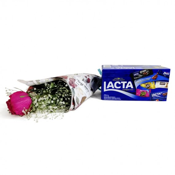 National Rose Bouquet Tenderness with chocolate Lacta