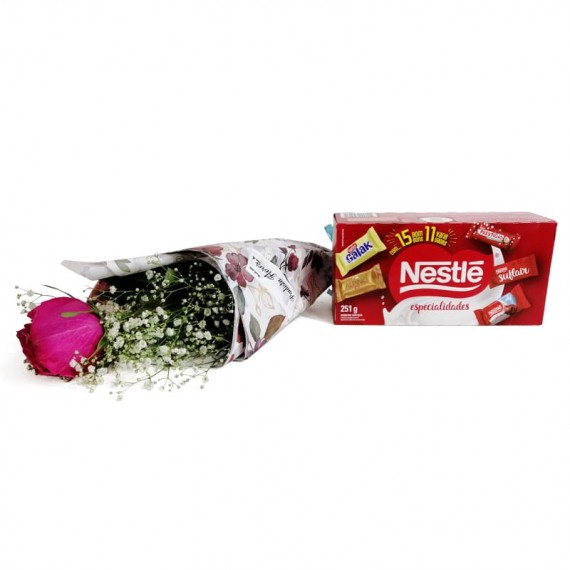 National Rose Bouquet Tenderness with chocolate Nestlé
