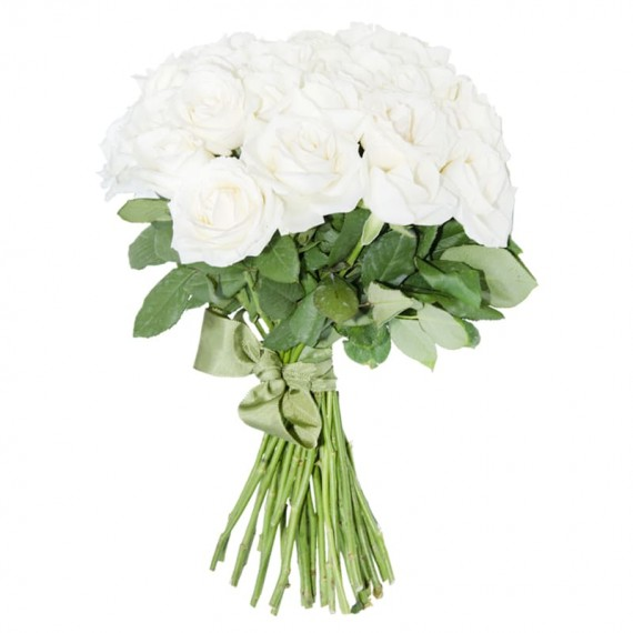 Rustic Bouquet White National Roses
