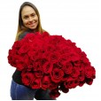 Mega Buquê com 150 das Verdadeiras Rosas Colombianas
