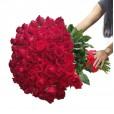 Mega buquê com 200 rosas Nacionais