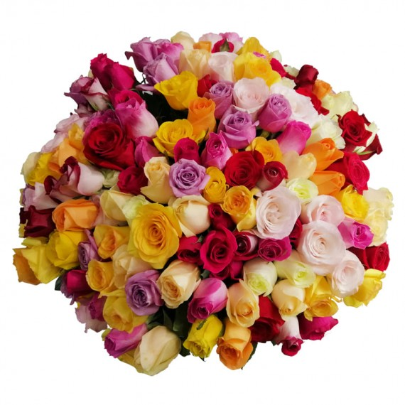 Mega bouquet with 200 Colorful Roses