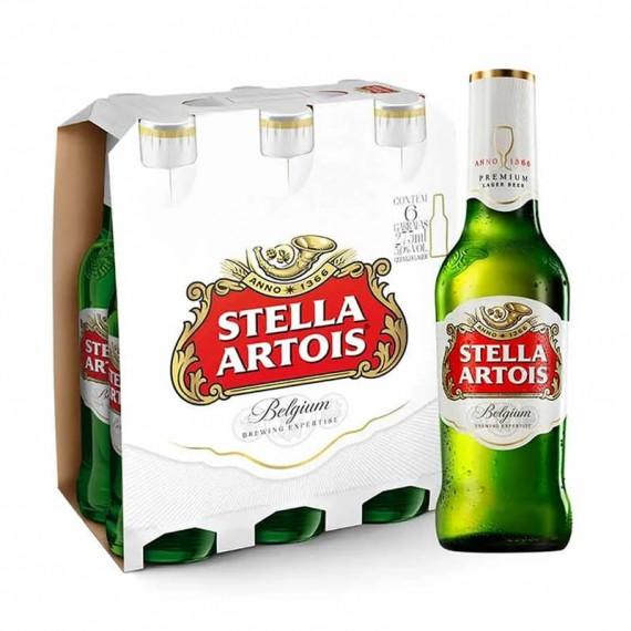 Cerveja Stella Artois -  Pack com 6 unidades