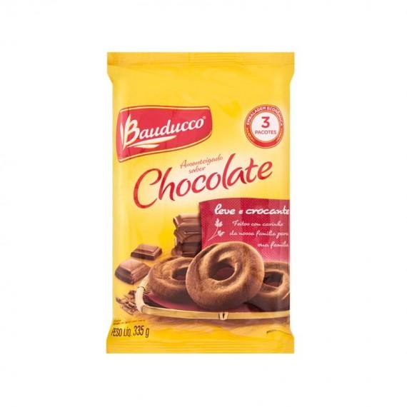 Biscoito  Doce BAUDUCCO Amanteigado ao Leite com Gotas de Chocolate ou Chocolate