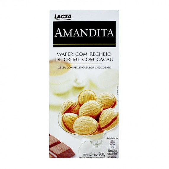Chocolate Amandita Wafer Recheado  200g